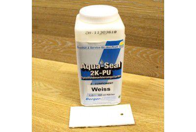 "2-х компонентная краска для нанесения разметки ""Aqua-Seal 2K-PU Spielfeldmarkierungsfarbe""(Германия) белая 1,65л."