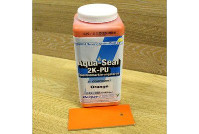 "2-х компонентная краска для нанесения разметки ""Aqua-Seal 2K-PU Spielfeldmarkierungsfarbe""(Германия) оранжевая 1,65л."
