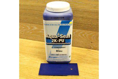 "2-х компонентная краска для нанесения разметки ""Aqua-Seal 2K-PU Spielfeldmarkierungsfarbe""(Германия) синяя 1,65л."