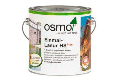 Однослойная лазурь на основе масел для наружных и внутренних работ OSMO Einmal-Lasur HS Plus белая ель 2.5л