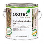 Белая краска для окон и дверей OSMO Holz-Deckfarbe 0.75л