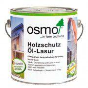 Защитное масло-лазурь для наружных работ OSMO Holzschutz Ol-Lasur зеленое для сада 2.5л