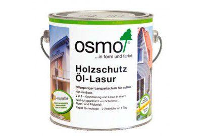 Защитное масло-лазурь для наружных работ OSMO Holzschutz Ol-Lasur патина 0.75л
