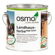 Непрозрачная краска на основе масел для наружных работ OSMO Landhausefarbe темно-коричневая 0.75л