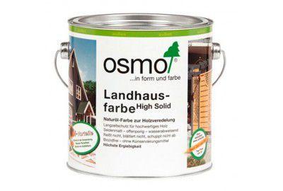 Непрозрачная краска на основе масел для наружных работ OSMO Landhausefarbe белая 0.75л