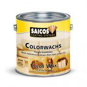 Цветной декоративный воск для внутренних работ Saicos Colorwachs лимонный 0.75л