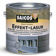 Специальная краска для деревянных фасадов с эффектом металлика SAICOS Effekt-Lasur эффект титана 0.75л