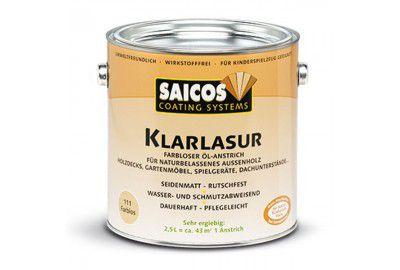 Бесцветная масляная лазурь SAICOS Klarlazur 0.75л