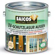Защитная лазурь с УФ-фильтром для наружных работ SAICOS UV-Schutzlasur Aussen орех прозрачная 2.5л
