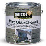 Серая лазурь для наружных работ SAICOS Vergrauungs-Lasur серый графит 2.5л