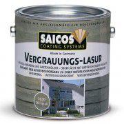 Серая лазурь для наружных работ SAICOS Vergrauungs-Lasur серый камень 0.75л