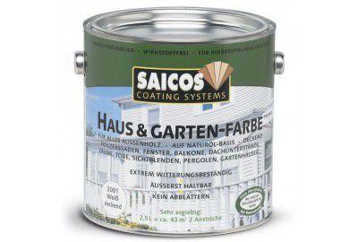 Непрозрачная краска для наружных и внутренних работ на основе масел SAICOS Haus&Garten-Farbe гранит 2.5л